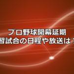 プロ野球開幕延期